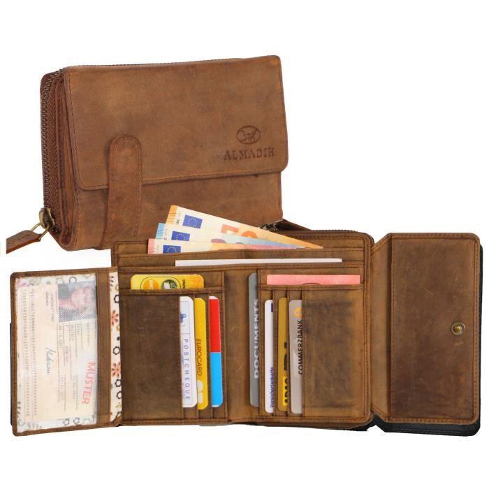 RAS Portefeuilles Homme RFID Bloquant en cuir souple Trifold Sac à main carte de crédit Titulaire ID
