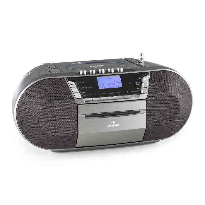 auna jetpack boombox radiocassette portable avec usb. Black Bedroom Furniture Sets. Home Design Ideas