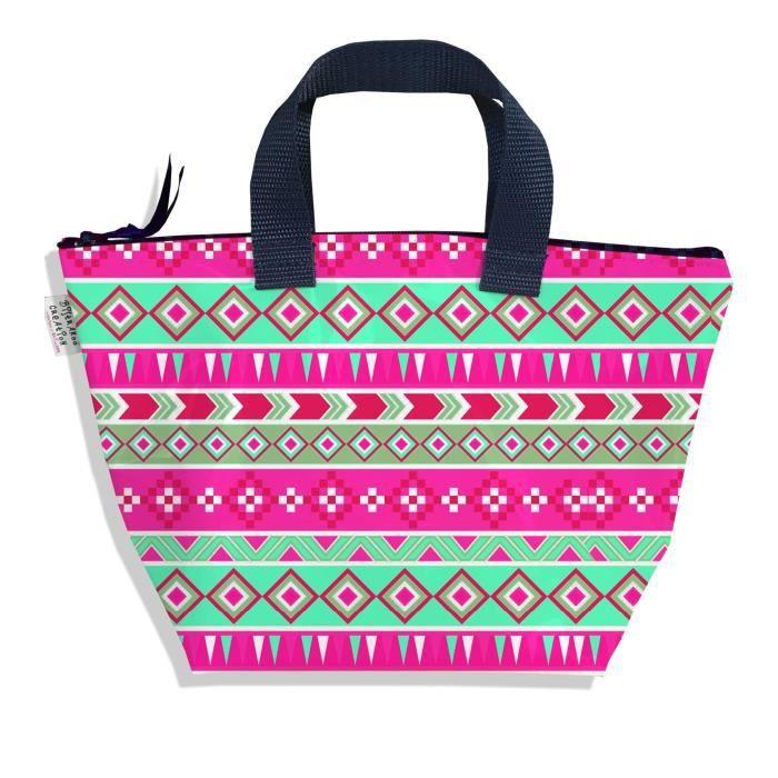 SAC À MAIN Sac à main fille enfant Aztec rose et vert 2317-20