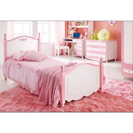 lit enfant pour fille angelica rose achat vente lit. Black Bedroom Furniture Sets. Home Design Ideas
