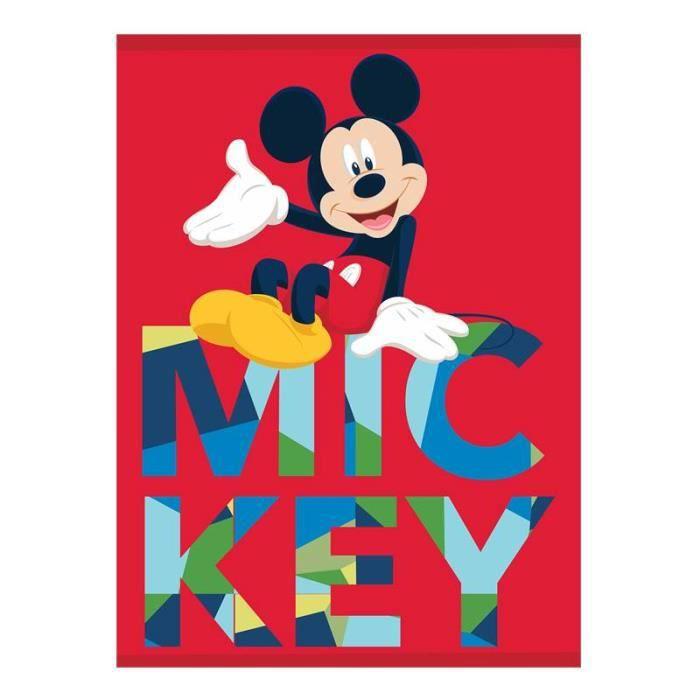 GRAND DISNEY MICKEY PLAID POLAIRE COUVERTURE MOLLETONNÉE DOUX HIVER 100×140CM