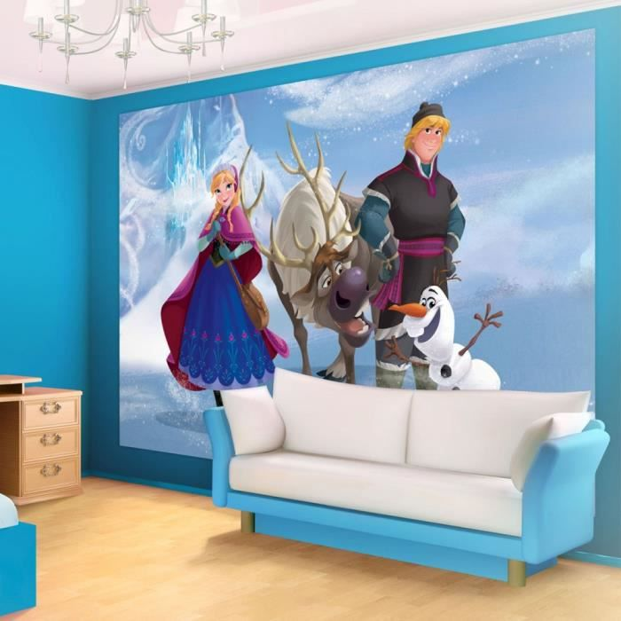 fresque murale la reine des neiges papier peint 104 x. Black Bedroom Furniture Sets. Home Design Ideas