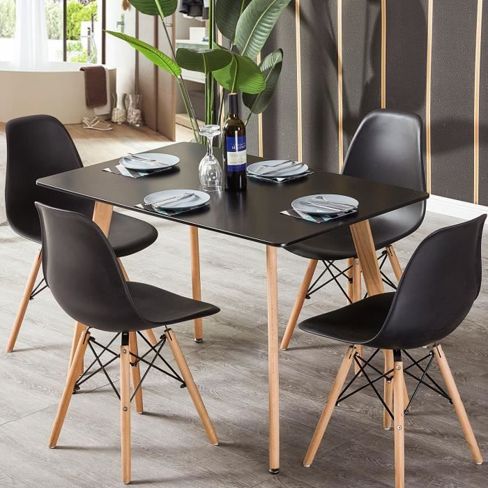 Dora Household Moderne Ensemble Table De Salle A Manger Table Noir