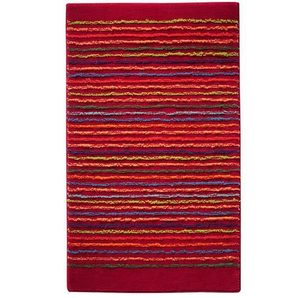 tapis de salle de bain rouge bordeaux cool stripes par esprit home 60 x 100 cm achat vente. Black Bedroom Furniture Sets. Home Design Ideas