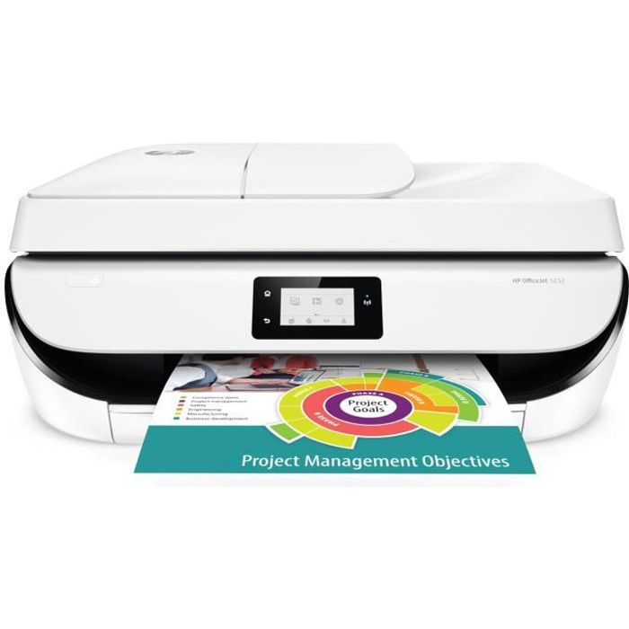 HP Imprimante 4 en 1- Officejet 5232 -WIFI- R V automatique- couleur ... 682db8b2aec3