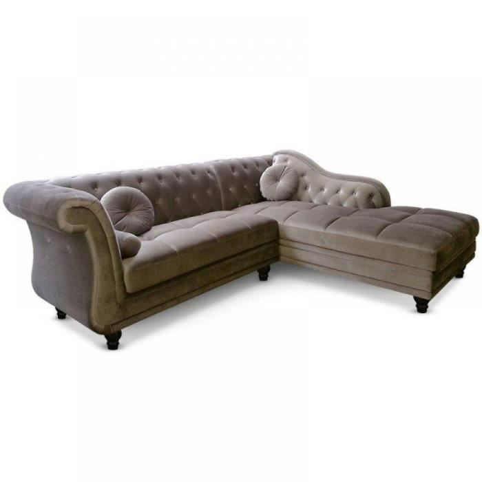 Canap d 39 angle droite kingdom chesterfield velo achat vente canap - Canape chesterfield d angle ...
