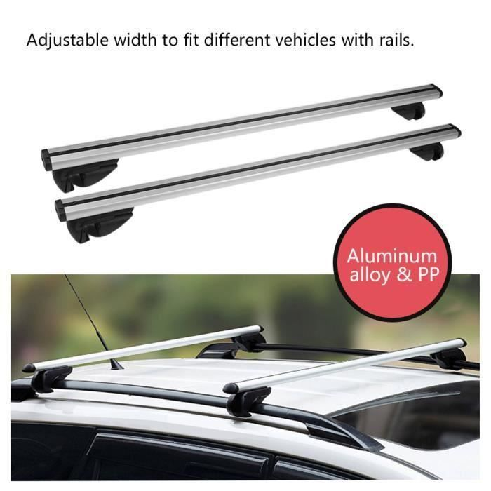LESHP Antivol verrouillable Barres de toit de voiture Durable avec des rails Rack Locking Bar