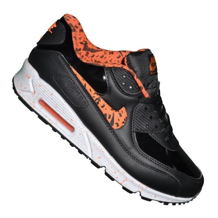 Nike -- Basket - Homme - Air Max 90 Essential 223 - Noir Orange ...