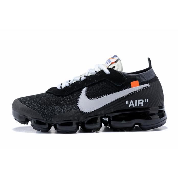 detailed look 19c52 c98fb ... Chaussure De Running AA3831-001 Noir-Blanc. BASKET Nike Air VaporMax  Flyknit OFF-WHITE X Homme Femme