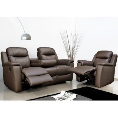 canap s relax 3 1 places evasion en cuir choc achat vente canap sofa divan cdiscount. Black Bedroom Furniture Sets. Home Design Ideas