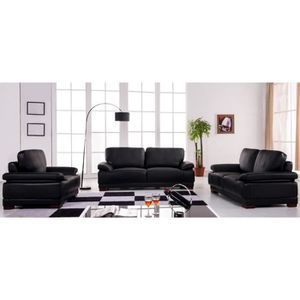 canape simili cuir noir 3 place achat vente canape simili cuir noir 3 place pas cher cdiscount. Black Bedroom Furniture Sets. Home Design Ideas