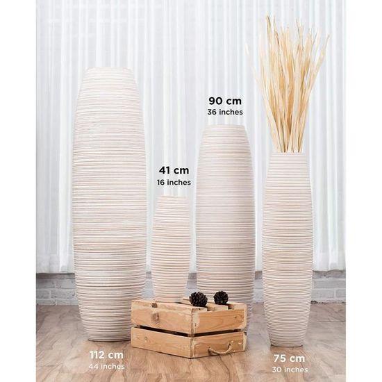 75 cm Leewadee Grand Vase /à Poser au Sol Lilas Vase Haut Design Forme chemin/ée Vase /à Poser au Sol pour Branches d/écoratives