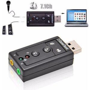 CARTE SON EXTERNE Adaptateur Carte Son externe USB 2.0 3D Stéréo 7.1