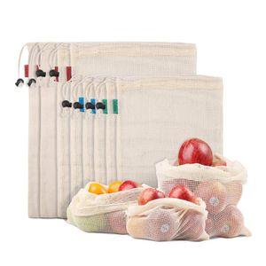 PACK FRUITS Sacs Organique Produit en Maille de Coton Biologiq
