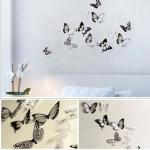 STICKERS 3D Wall Stickers papillon réfrigérateur décoration