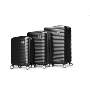 SET DE VALISES Set de 3 valises ABS trolleys Air V Abuhu - Noir