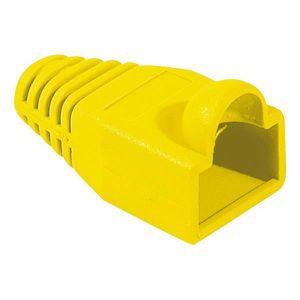 CÂBLE RÉSEAU  Manchon RJ45 6mm jaune (sachet de 10)