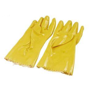 Sourcing map Paire de gants de protection en microfibre anti-poussi/ère Blanc Taille M