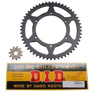 AFAM KIT Chaine Adaptable DERBI 50 GPR 20042005 Nude 420 12x53 ALESAGE 108mm,Plate DEMULTIPLICATION Origine
