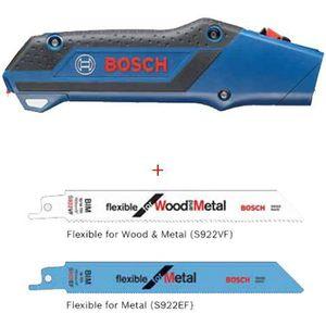 SCIE Scie à main + 2 lames scies sabre Bosch