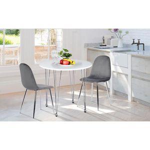 TABLE À MANGER SEULE Table à Manger Ronde De 2 à 4 Personnes - Style Mo
