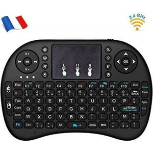 CLAVIER D'ORDINATEUR Mini i8 Wireless (AZERTY) - Mini Clavier Française