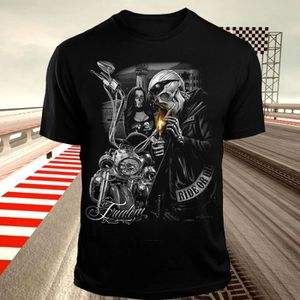 T-SHIRT Harajuku crâne gangster chemise moto tee shirt Sku