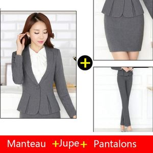 COSTUME - TAILLEUR (Veste + jupe + pantalon)Costume Femme Coupe slim