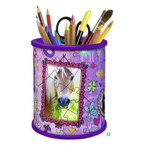 PUZZLE GIRLY GIRL Pot à Crayons Chevaux (Puzzle 3D)