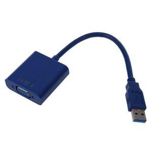 ADAPTATEUR AUDIO-VIDÉO  SODIAL(R) HOT USB 3.0 a VGA Display Video externe