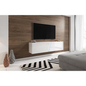 MEUBLE TV VIVALDI Meuble TV - SLANT - 160 cm - blanc mat / b