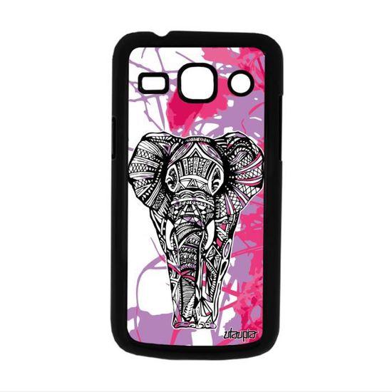 Coque de protection Samsung Core Plus elephant graphique feuilles ...