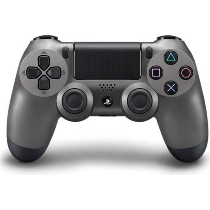 manette de jeu dualshock 4 steel black ps4 achat vente manette console manette dualshock4. Black Bedroom Furniture Sets. Home Design Ideas