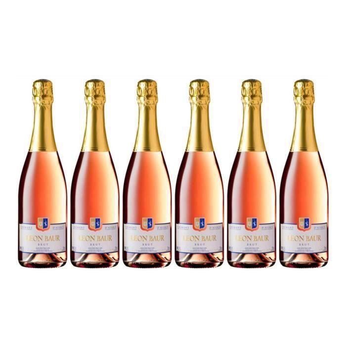 Maison Léon Baur Crémant Rosé 2018 x6 - Crémant d'Alsace
