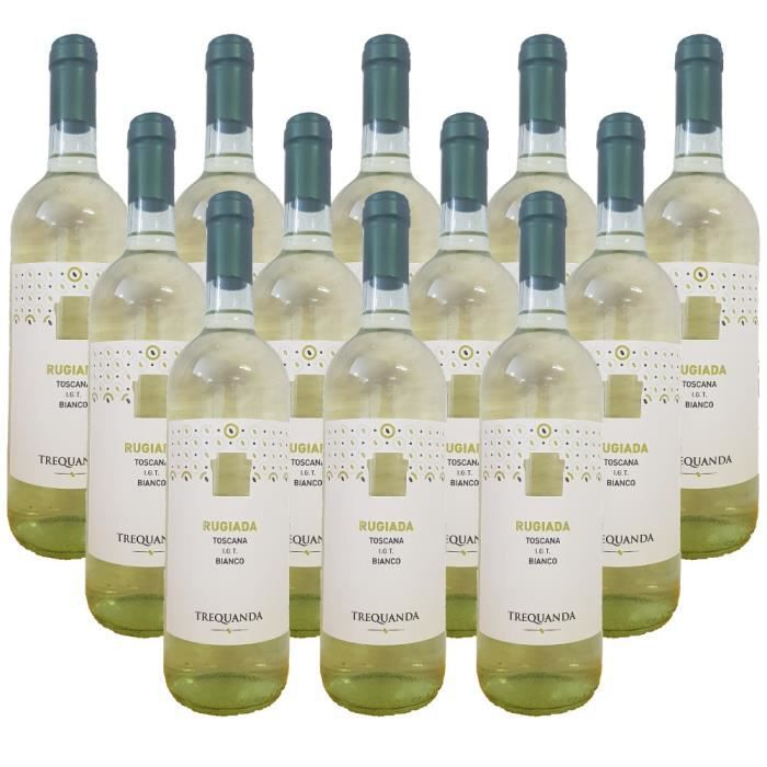 RUGIADA vin blanc I.G.T. de la Toscane Vin blanc italien 12 bouteilles 75 cl.
