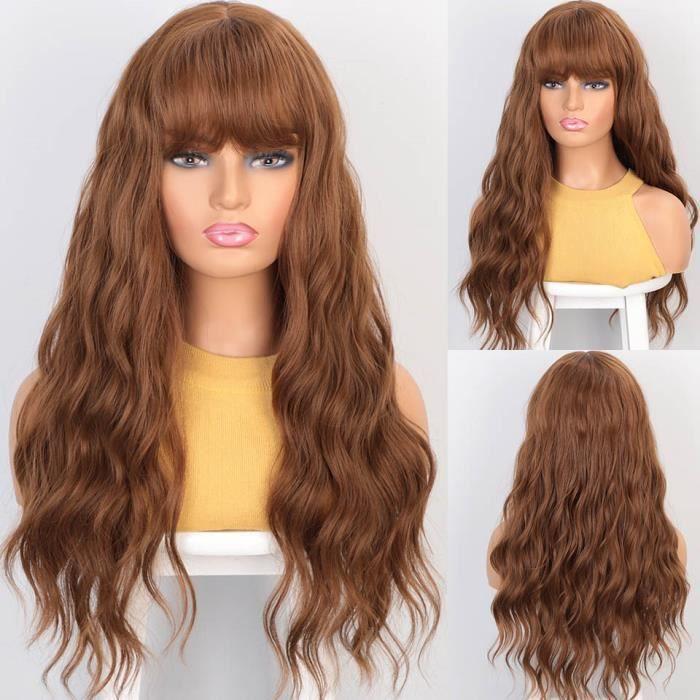 10-12-3026 pouces -Estampillé glorieux longues perruques rouges 26 pouces naturel Headline Wave perruques synthétiques avec pleine