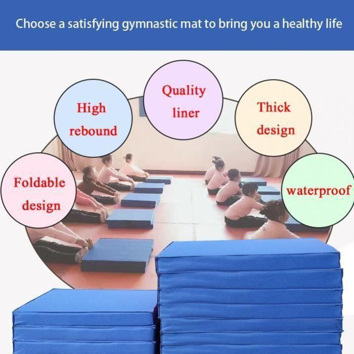 Épais panneau pliant antidérapant yoga fitness Pad mat Tapis De Sol Fitness Yoga Tri Pad-CY
