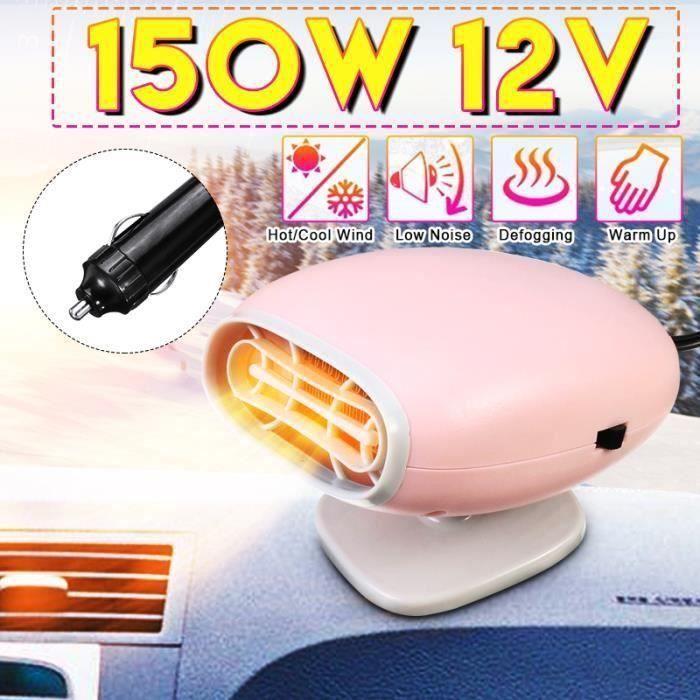 Chauffe Voiture Chauffage Ventilateur 12V 150W Sèche-glace antibuée véhicule dégivrage L34165