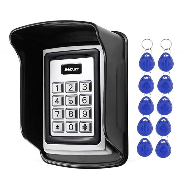 HFeng Standalone Sebury Lecteur 125KHz de système de contrôle d'accès imperméable de Clavier RFID Autonome en métal avec la Couve