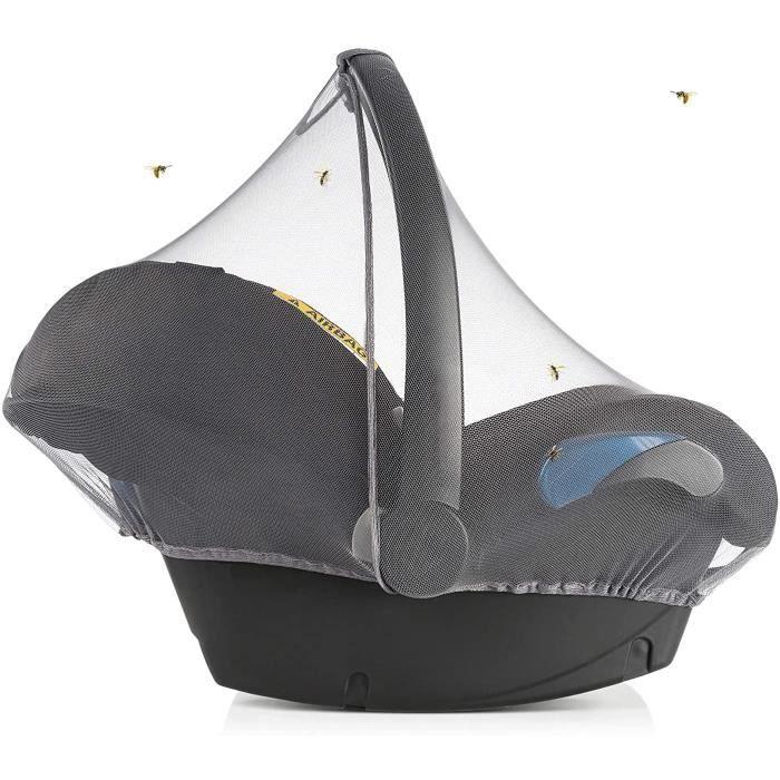 Moustiquaire Cosy Bebe Universelle, Filet Protection Insecte pour Siege Auto (ex. Bébé Confort, Cybex), Bordure Élastique, Ouverture