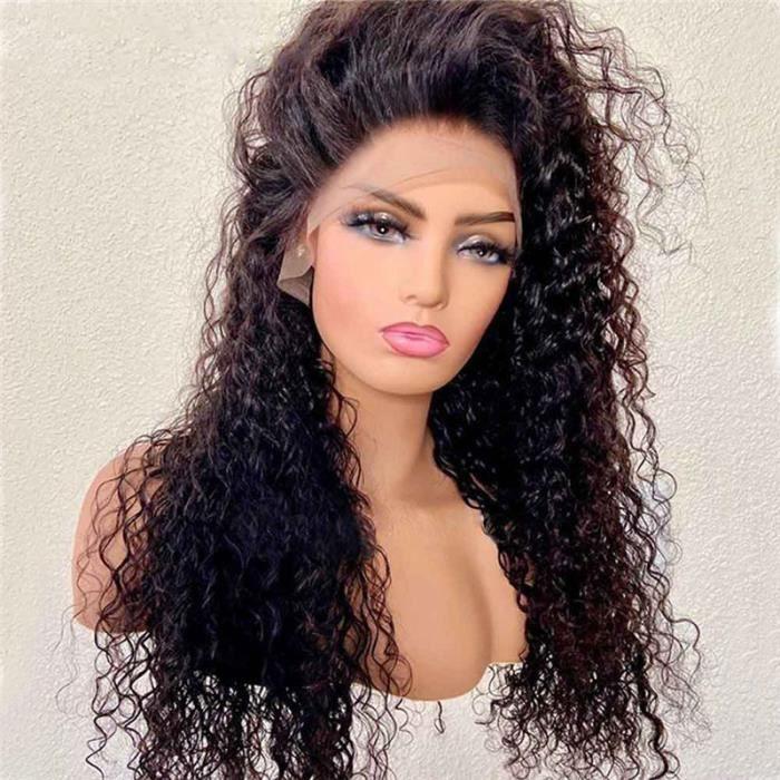 Perruque Femme Pas cher 22- Cheveux Naturel bouclée 360 lace frontal 100% Cheveux Humain Gui1o Hair