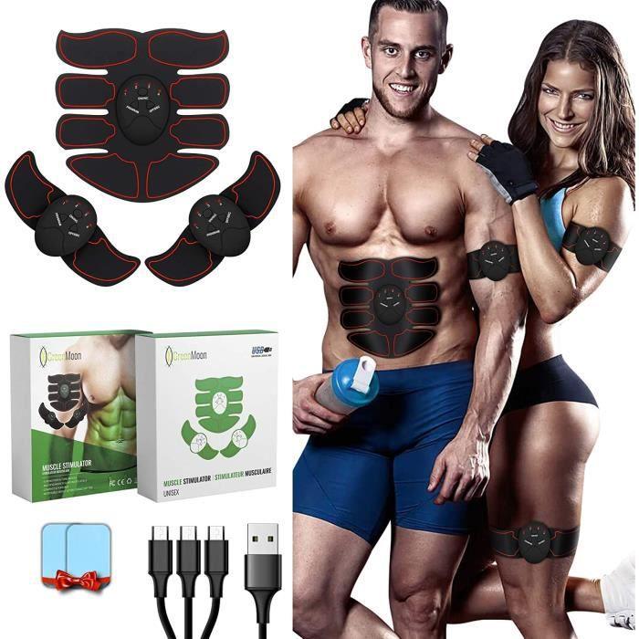 APPAREIL D'ELECTROSTIMULATION GreenMoon Electrostimulateur Musculaire, Ceinture Abdominale, Electrostimulateur fessier, Stimulat6