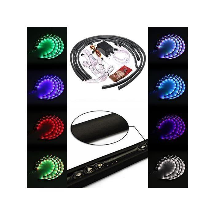 Bande LED Éclairage Bas de Voiture 7 Couleurs
