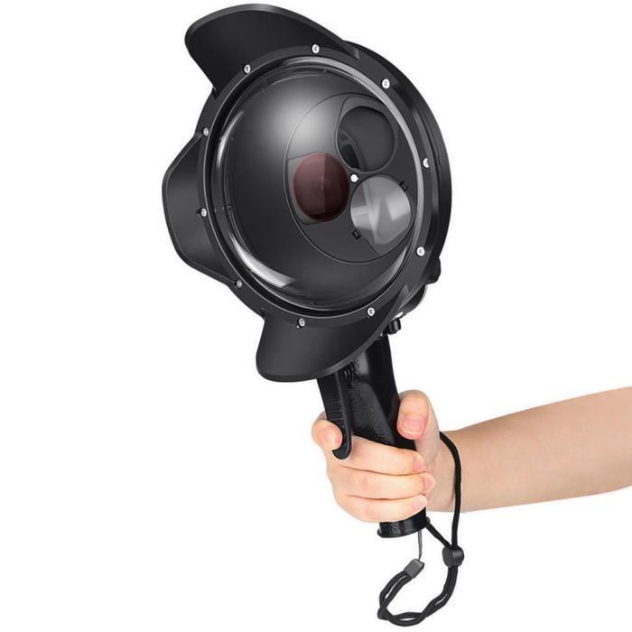 Garosa boîtier pour dôme pour caméra Filtre de boîtier étanche pour port de dôme de plongée SHOOT pour GoPro Hero 7 Black 6 5