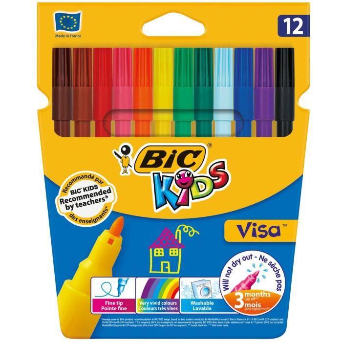 BIC Kids Visa 12 Feutres de Coloriage