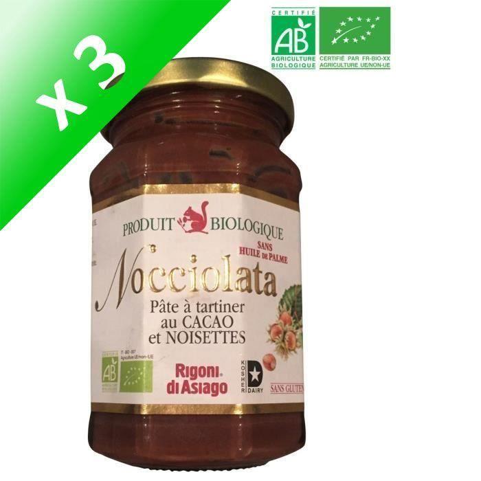 [LOT DE 3] NOCCIOLATA Pâte à tartiner chocolat boisette BIO 270 g
