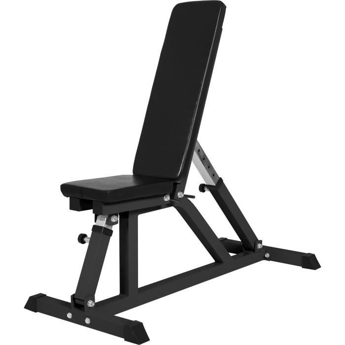 Gorilla Sports - Banc de musculation multipositions - NOIR