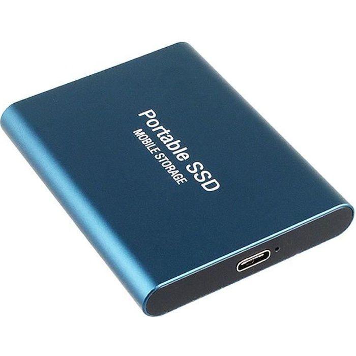 Disque dur mobile 2 To de type C USB3.1 SSD en alliage d'aluminium disque à semi-conducteurs 540 Mo - s vitesse de transmission