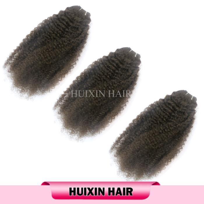 3 TISSAGES Cheveux Crépu Afro Tissage Cheveux Humains Péruvien Original