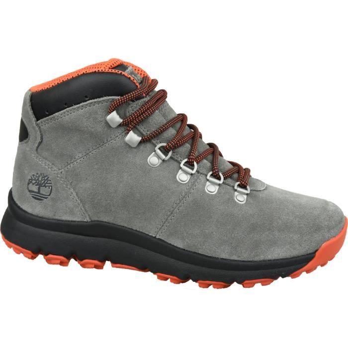 Timberland World Hiker Mid A1Z11 chaussures de randonnée pour homme Gris